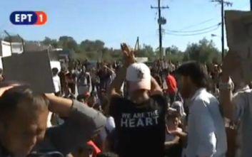 Διαμαρτυρία στη Μόρια, «απελευθερώστε μας από τη φυλακή» φωνάζουν