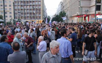 Συλλαλητήρια ενάντια στο πολυνομοσχέδιο στο κέντρο της Αθήνας