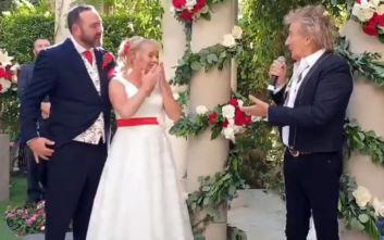 Η έκπληξη του Ροντ Στιούαρτ που άφησε άφωνο ζευγάρι που παντρεύτηκε στο Λος Άντζελες