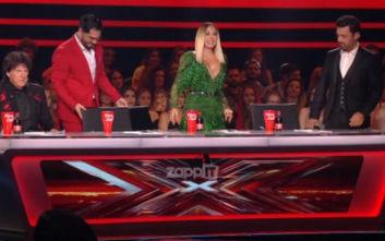 X Factor: Το ντεκολτέ της Μελίνας Ασλανίδου έκοψε την ανάσα