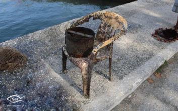 Ο καθαρισμός του βυθού στη Θάσο και το μεγάλο πρόβλημα που ήρθε στο φως