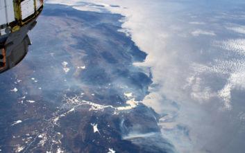 Ορατή από τον Διεθνή Διαστημικό σταθμό η φωτιά στην Καλιφόρνια