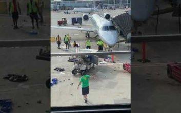 Όχημα άρχισε να στροβιλίζεται σε πίστα αεροδρομίου προκαλώντας χάος