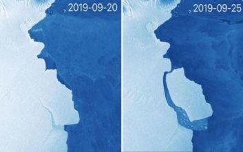 Τεράστιο παγόβουνο μεγάλο όσο 15 φορές το Παρίσι αποκολλήθηκε από την Ανταρκτική