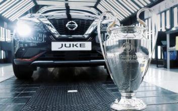 Το νέο Juke… παίζει μπάλα στο UEFA Champions League