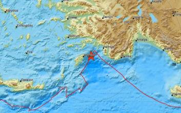 Σεισμός τώρα ανοιχτά της Ρόδου