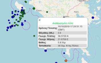 Σεισμός κοντά στην Πύλο