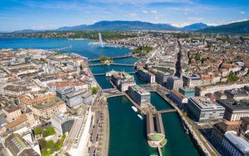 Πανοραμική θέα στη Γενεύη που κόβει την ανάσα