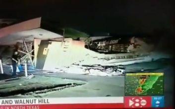 Σκηνές σαν από ταινία στο Ντάλας, μεγάλες καταστροφές από ανεμοστρόβιλο