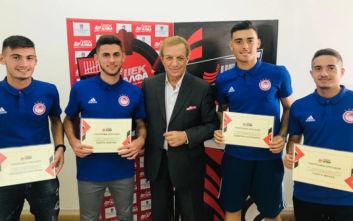 Τέσσερις υποτροφίες από το ΙΕΚ ΑΛΦΑ σε παίκτες της Κ-19 του Ολυμπιακού