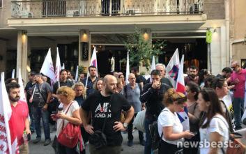 Διαμαρτυρία για σπίτι που βγαίνει σε πλειστηριασμό στο κέντρο της Αθήνας