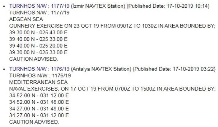 Νέες NAVTEX εξέδωσε η Τουρκία για Αιγαίο και κυπριακή ΑΟΖ