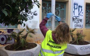 Μεγάλη παρέμβαση καθαριότητας του Δήμου Αθηναίων στην περιοχή του Ψυρρή