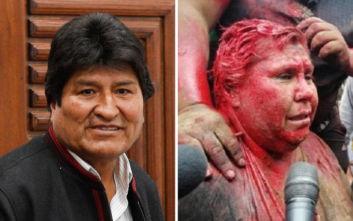 Έντονη καταδίκη από Μοράλες για την επίθεση και διαπόμπευση στη δήμαρχο του