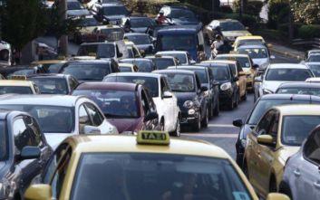 Μποτιλιάρισμα στους δρόμους της Αθήνας