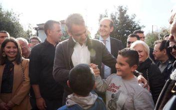 Μητσοτάκης σε μικρούς φίλους του ΠΑΟΚ: Έχουμε κανέναν Ολυμπιακό;