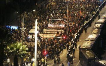 Πολυτεχνείο: Ολοκληρώθηκε το συλλαλητήριο για την 46η επέτειο