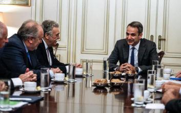 Συνάντηση Μητσοτάκη με τον πρόεδρο του Κεντρικού Ισραηλίτικου Συμβουλίου Ελλάδος