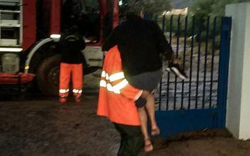 Κακοκαιρία Γηρυόνης: Εικόνες καταστροφής στην Κινέτα