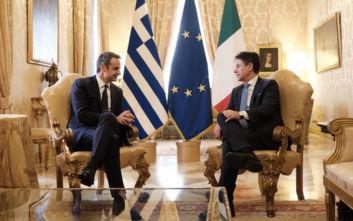 Μητσοτάκης και Κόντε υπέγραψαν συμφωνία συνεργασίας στον τομέα της ενέργειας
