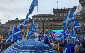 Βρετανία: Διαδήλωση υπέρ της ανεξαρτησίας της Σκωτίας στη Γλασκώβη
