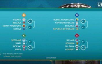 Euro 2020: Αυτά είναι τα ζευγάρια των play offs του Nations League