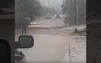 Κακοκαιρία: Εκκενώθηκαν σπίτια στη Θάσο, απίστευτες εικόνες καταστροφής