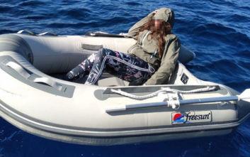 Η στιγμή που εντοπίστηκε η 47χρονη που είχε χαθεί με βάρκα στη Φολέγανδρο
