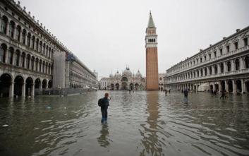 Νέος συναγερμός για αύριο στη Βενετία, τα νερά αναμένεται να φτάσουν τα 140 εκατοστά