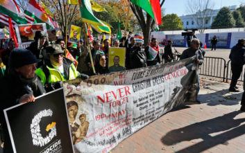Καταγγελίες Ελλήνων και Αρμενίων ότι άνδρες της ασφάλειας του Ερντογάν προκάλεσαν βρίζοντάς τους