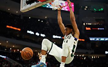 Με… ιπτάμενο Αντετοκούνμπο το Top-10 του NBA