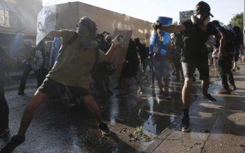 Λεηλασία τράπεζας κι επιθέσεις σε αστυνομικά τμήματα στη Χιλή