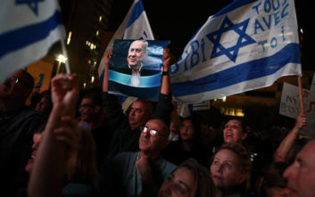 Ισραήλ: Χιλιάδες άνθρωποι στους δρόμους του Τελ Αβίβ υπέρ του Μπενιαμίν Νετανιάχου
