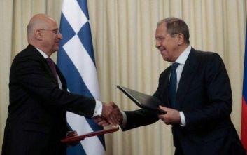 Κοινό Πρόγραμμα Διαβουλεύσεων Ελλάδας-Ρωσίας υπέγραψαν Δένδιας και Λαβρόφ