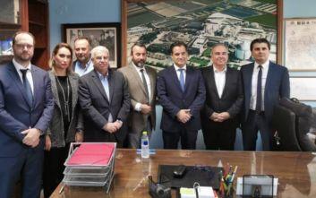 Επίσκεψη Άδωνι Γεωργιάδη στο εργοστάσιο της Ελληνικής Βιομηχανίας Ζάχαρης