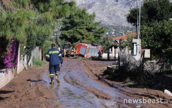 Κακοκαιρία Γηρυόνης: Νέες εικόνες καταστροφής από την Κινέτα