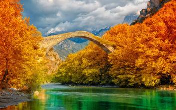Φθινοπωρινές εικόνες στον ποταμό Αώο