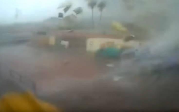 Βίντεο με ανεμοστρόβιλο που σαρώνει εργοστάσιο σε χωριό της Καλαμάτας