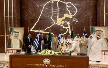Μνημόνια κατανόησης Ελλάδος-Κουβέιτ υπέγραψε ο Νίκος Δένδιας