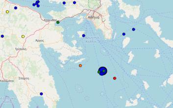 Σεισμός 4,1 ρίχτερ κοντά στην Υδρα