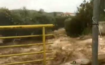 Κακοκαιρία:Βίντεο από τη θεομηνία στη Θάσο