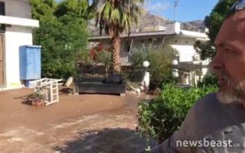 Κάτοικος Κινέτας στο newsbeast: «Το νερό έσπασε τις τζαμαρίες και πέταξε τα έπιπλα έξω»