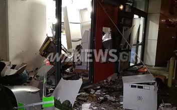 Περιστέρι: Οι πρώτες εικόνες από την έκρηξη σε ΑΤΜ