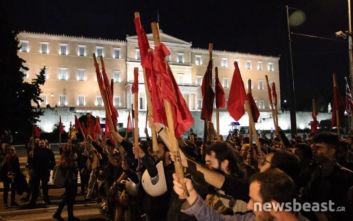 Ολοκληρώθηκε το φοιτητικό συλλαλητήριο για το άσυλο και τα επεισόδια στην ΑΣΟΕΕ