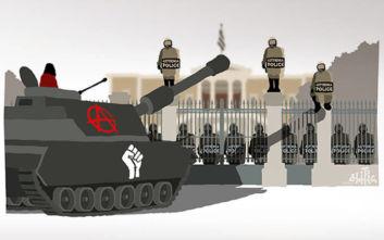 Πολυτεχνείο: Το σκίτσο του Δημήτρη Χαντζόπουλου που προκάλεσε πολλές αντιδράσεις