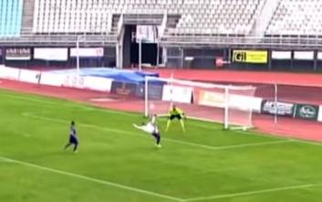 Το τρομερό γκολ με ψαλιδάκι στο παιχνίδι Καβάλα-Καλαμάτα