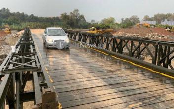 Χανιά: Αποκομμένοι οι κάτοικοι στο χωριό Αλικιανός, μέσω στρατιωτικής γέφυρας η κίνηση των οχημάτων