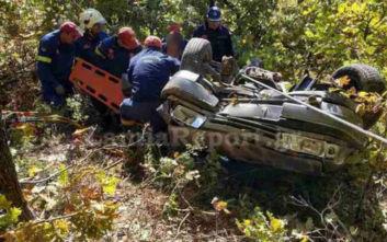 Φθιώτιδα: Σοβαρό τροχαίο, αυτοκίνητο έπεσε στη χαράδρα