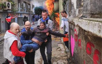 Συγκλονιστικές φωτογραφίες από τη φωτιά σε διαμέρισμα στην Κυψέλη