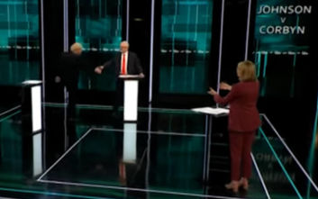 Χειραψία αλλά και σύγκρουση στο debate για τις βρετανικές εκλογές